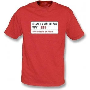 Stanley Matthews Way ST4 T-Shirt (Stoke City)
