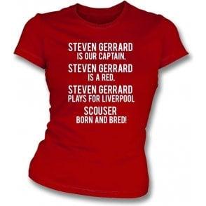 Steven Gerrard Is A Red (Liverpool) Womens Slim Fit T-Shirt