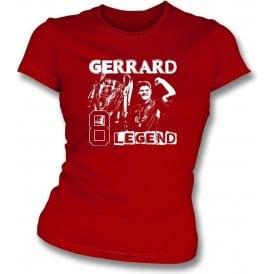 Steven Gerrard (Liverpool Legend) Womens Slim Fit T-Shirt