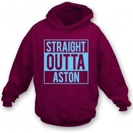 Straight Outta Aston (Villa) Kids Hooded Sweatshirt