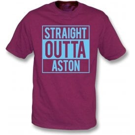 Straight Outta Aston (Villa) Kids T-Shirt