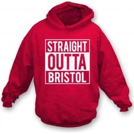 Straight Outta Bristol (City) Kids Hooded Sweatshirt