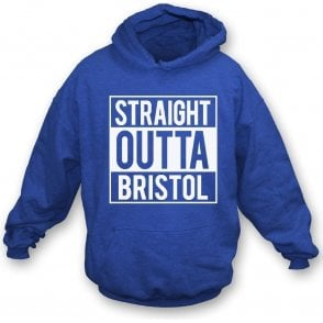 Straight Outta Bristol (Rovers) Kids Hooded Sweatshirt