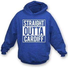 Straight Outta Cardiff Kids Hooded Sweatshirt