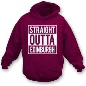 Straight Outta Edinburgh (Hearts) Kids Hooded Sweatshirt