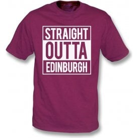 Straight Outta Edinburgh (Hearts) Kids T-Shirt