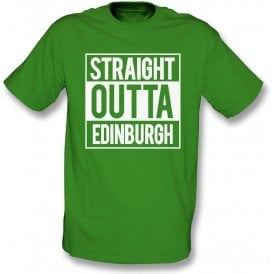 Straight Outta Edinburgh (Hibernian) Kids T-Shirt