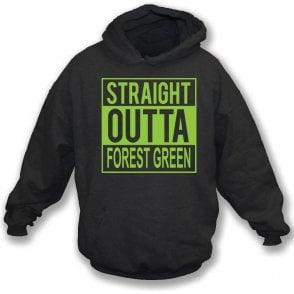 Straight Outta Forest Green Kids Hooded Sweatshirt