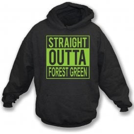 Straight Outta Forest Green Kids Hooded Sweatshirt