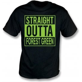 Straight Outta Forest Green Kids T-Shirt