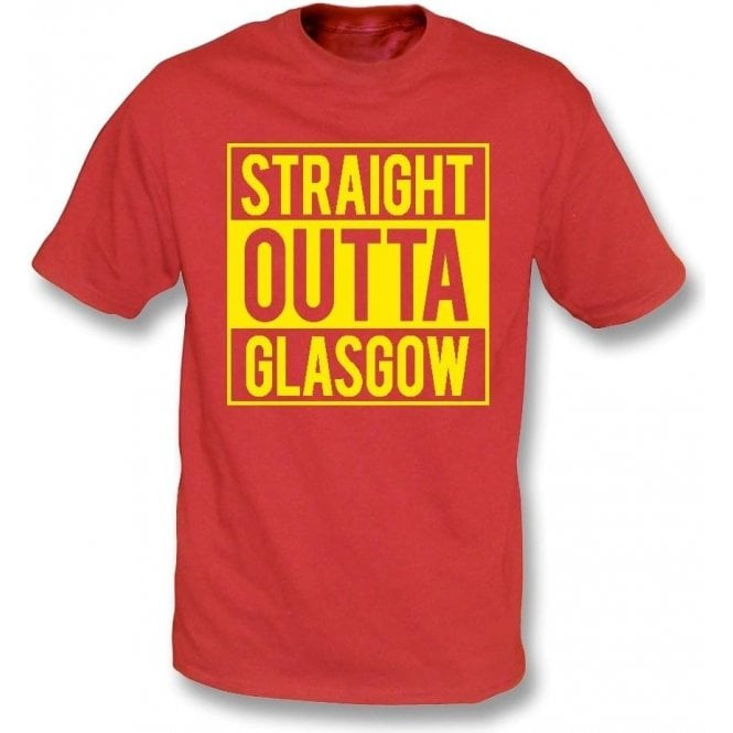 Straight Outta Glasgow (Partick Thistle) Kids T-Shirt