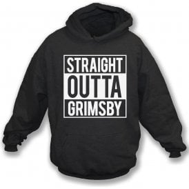 Straight Outta Grimsby Kids Hooded Sweatshirt