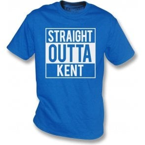Straight Outta Kent (Gillingham) Kids T-Shirt
