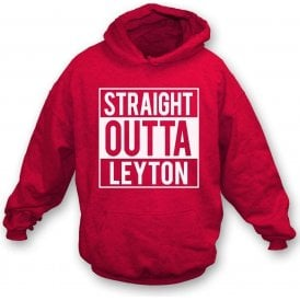 Straight Outta Leyton (Orient) Kids Hooded Sweatshirt