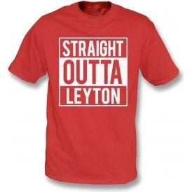 Straight Outta Leyton (Orient) Kids T-Shirt
