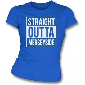 Straight Outta Merseyside (Everton) Womens Slim Fit T-Shirt