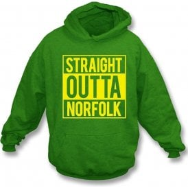 Straight Outta Norfolk (Norwich City) Hooded Sweatshirt