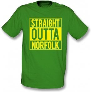Straight Outta Norfolk (Norwich City) Kids T-Shirt