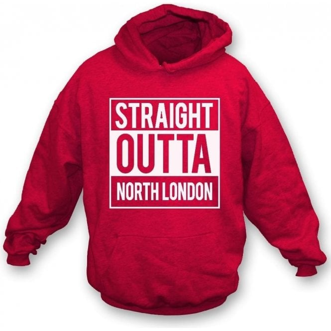 Straight Outta North London (Arsenal) Kids Hooded Sweatshirt