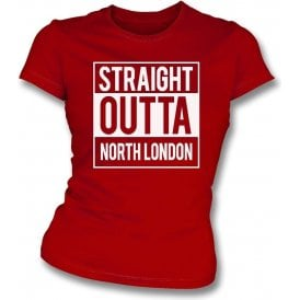 Straight Outta North London (Arsenal) Womens Slim Fit T-Shirt