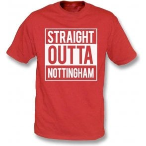 Straight Outta Nottingham (Forest) Kids T-Shirt