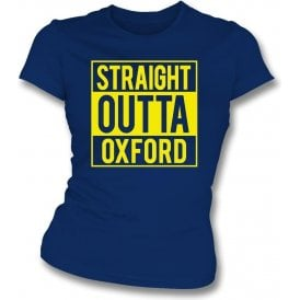 Straight Outta Oxford Womens Slim Fit T-Shirt