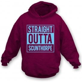 Straight Outta Scunthorpe Kids Hooded Sweatshirt