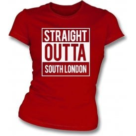 Straight Outta South London (Charlton) Womens Slim Fit T-Shirt