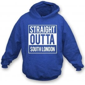 Straight Outta South London (Millwall) Kids Hooded Sweatshirt