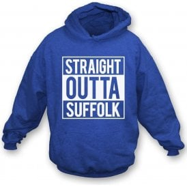 Straight Outta Suffolk (Ipswich Town) Hooded Sweatshirt