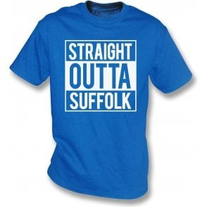 Straight Outta Suffolk (Ipswich Town) Kids T-Shirt