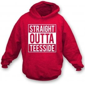 Straight Outta Teesside (Middlesbrough) Kids Hooded Sweatshirt