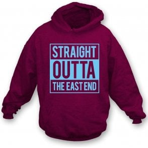 Straight Outta The East End (West Ham) Hooded Sweatshirt