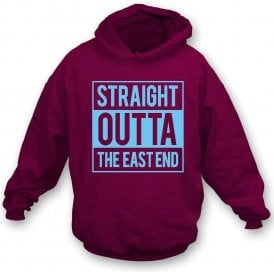 Straight Outta The East End (West Ham) Kids Hooded Sweatshirt