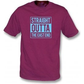 Straight Outta The East End (West Ham) Kids T-Shirt