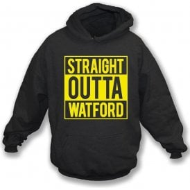 Straight Outta Watford Kids Hooded Sweatshirt