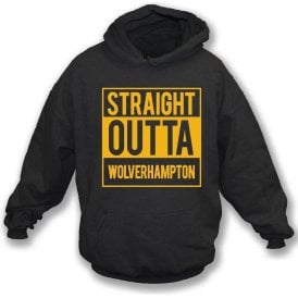 Straight Outta Wolverhampton Kids Hooded Sweatshirt