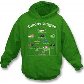 Sunday League Players (Adidas Style) Kids Hooded Sweatshirt
