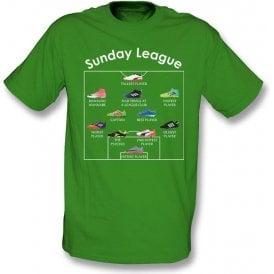 Sunday League Players (Adidas Style) Kids T-Shirt