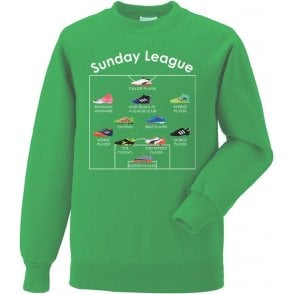 Sunday League Players (Adidas Style) Sweatshirt