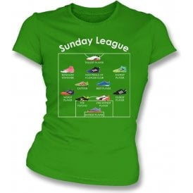 Sunday League Players (Adidas Style) Womens Slim Fit T-Shirt