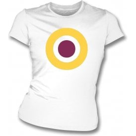 Sutton United Classic Mod Target Womens Slim Fit T-Shirt