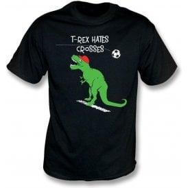 T-Rex Hates Crosses Kids T-Shirt