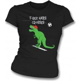 T-Rex Hates Crosses Womens Slim Fit T-Shirt
