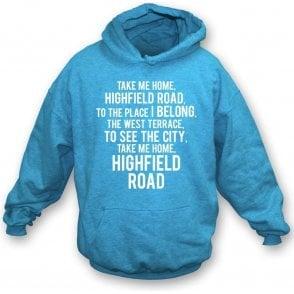 Take Me Home, Highfield Road (Coventry City) Kids Hooded Sweatshirt