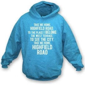 Take Me Home, Highfield Road (Coventry City) Kids Hooded Sweatshirt