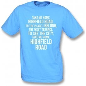 Take Me Home, Highfield Road (Coventry City) Kids T-Shirt