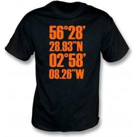 Tannadice Park Coordinates (Dundee United) T-Shirt