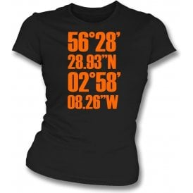Tannadice Park Coordinates (Dundee United) Womens Slim Fit T-Shirt