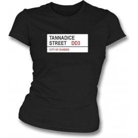 Tannadice Street DD3 Women's Slimfit T-Shirt (Dundee United)